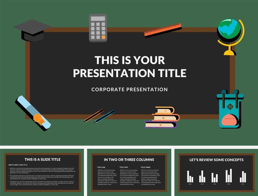 blackboard free powerpoint template 1